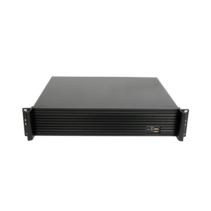 High quality 2U 19Inch Industrial case short depth server rack pc aluminum rackmount chassis 2u