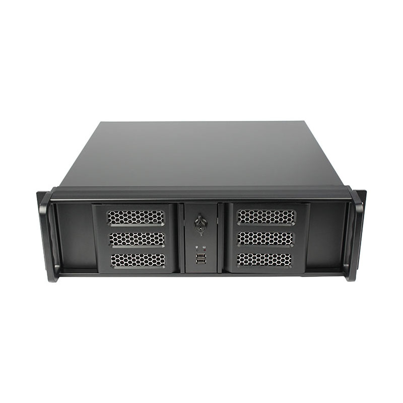 3U 19 inch Aluminum panel Atx Rackmount chassis with fan appliances hot swapping servers Unique door design